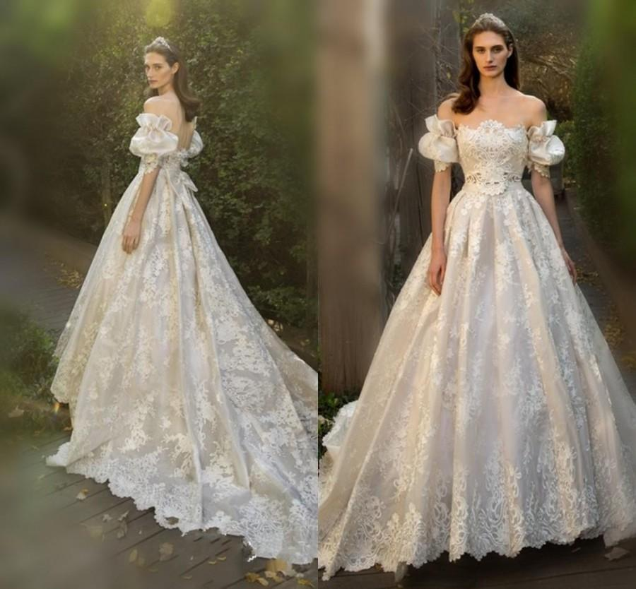 Fairy juliet wedding dresses 2016 off shoulder full lace for Fairytale ball gown wedding dresses