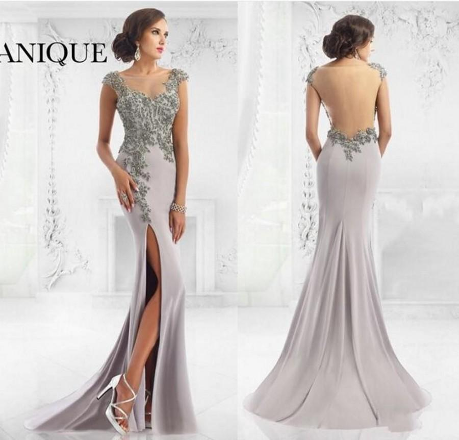 Elegant Designer Split 2016 Mother\'s Formal Wear Mermaid Janique ...