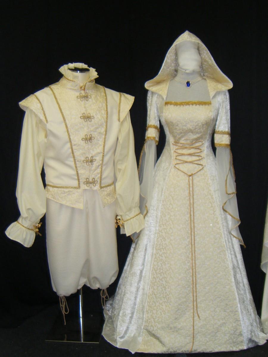 Свадьба - wedding set, bride and groom set, medieval dress, doublet set, gents renaissance set, handfasting dress, renaissance dress, custom made