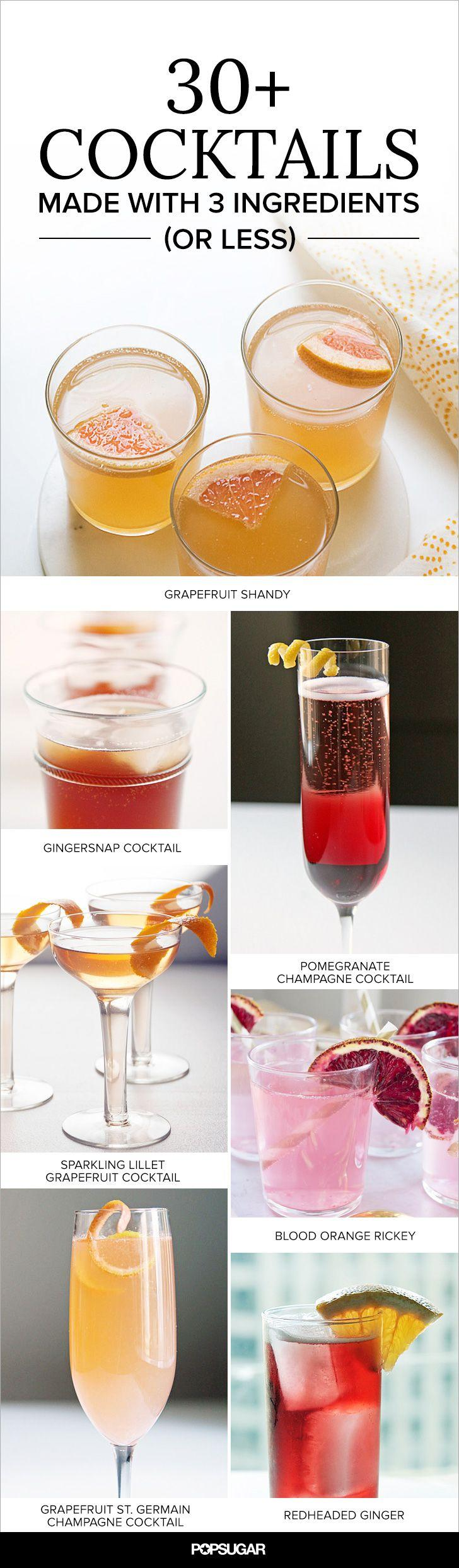33 crave worthy cocktails made with 3 ingredients or for Mixed drink recipes by ingredient