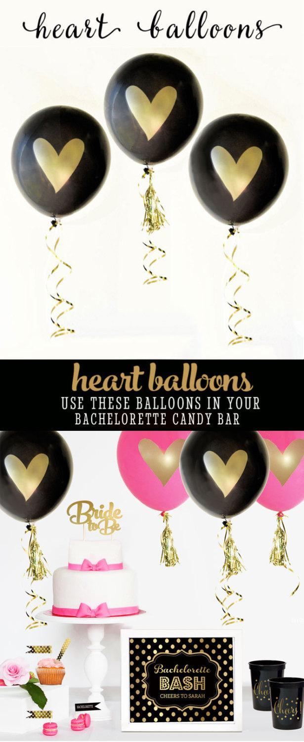 Mariage - Bachelorette Party Decorations Bachelorette Backdrop Decor Bachelorette Photo Props Bachelorette Party Ideas (EB3110HRT) - SET of 3 Balloons