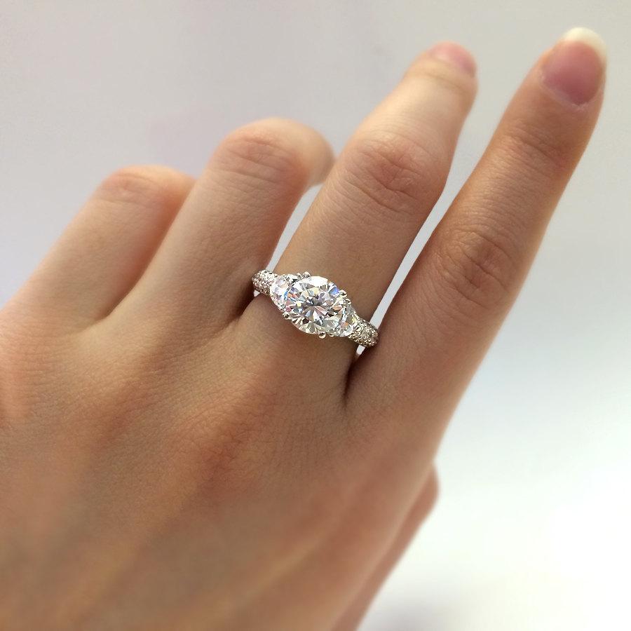 190 Ct Engagement Ringbrilliant Cut Diamond Simulantscubic Zirconia Ringanniversary  Ringbridal Ring925 Sterling Silverr80713