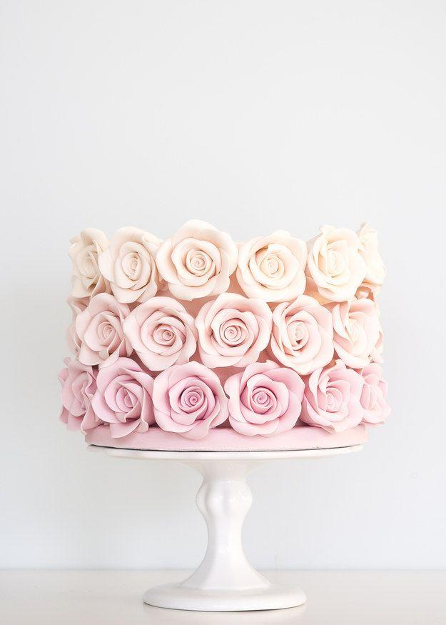 Cake - 24 Spectacular One-Tier Wedding Cakes #2484162 - Weddbook