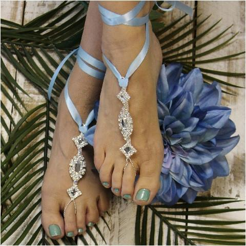 Mariage - barefoot sandals something blue