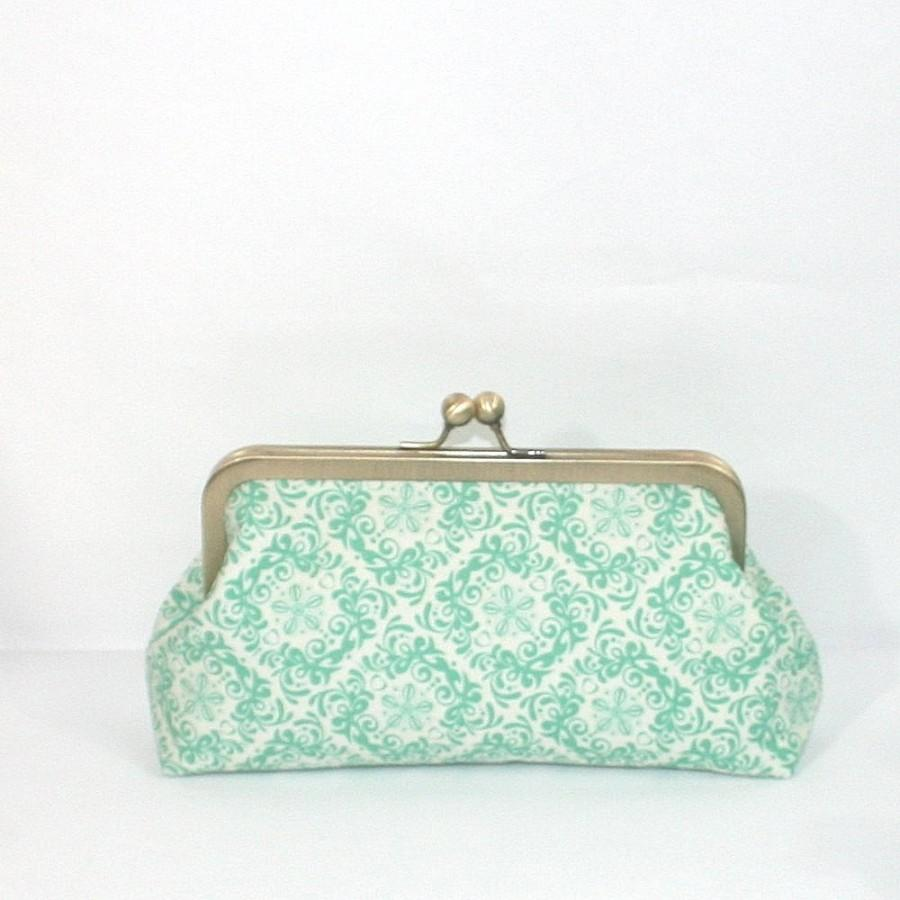 زفاف - mint wedding clutch, bridesmaids clutch, mint bridesmaids, mint and gold wedding, spring weddings, mint in rococo