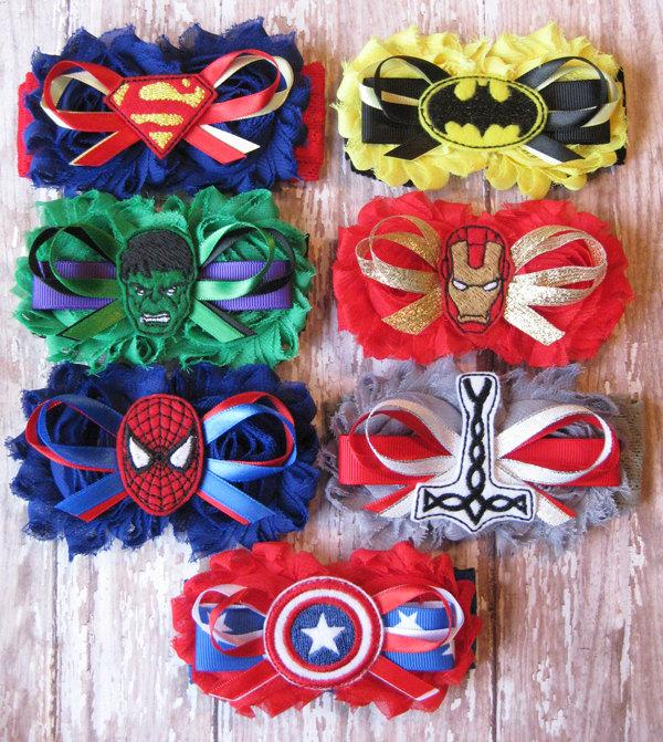 Mariage - Bridal Party Superhero Garter Set