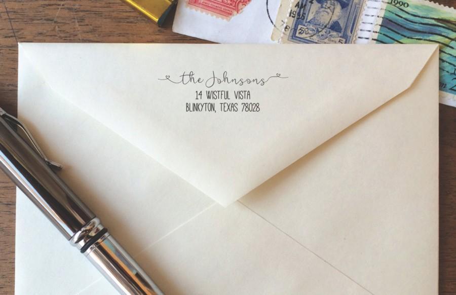 Love Boat Return Address Stamp Wedding Self Inking Weve Moved Custom