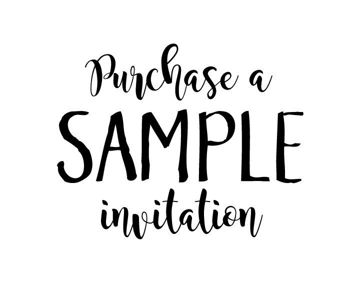 زفاف - Purchase a SAMPLE invitation