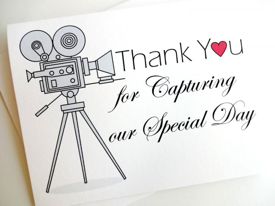 Wedding videographer thank you card for wedding video for Find a wedding videographer