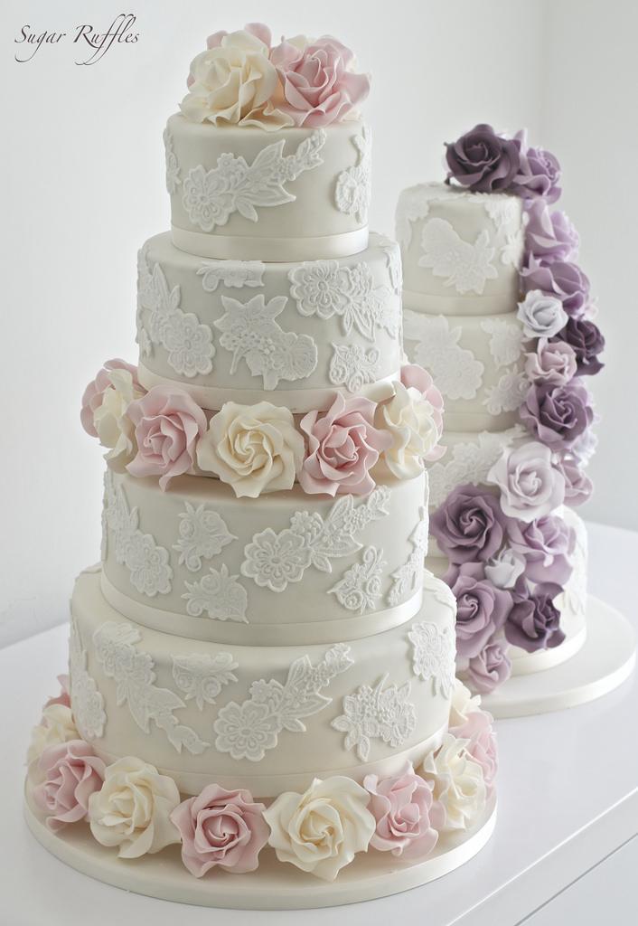 Wedding - Lace Wedding Cakes