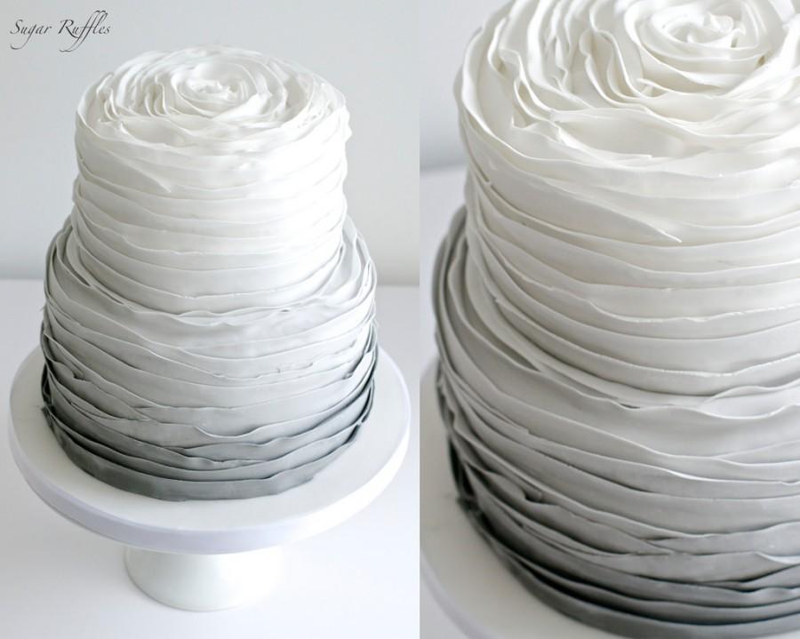 Свадьба - Grey Ombre Wedding Cake