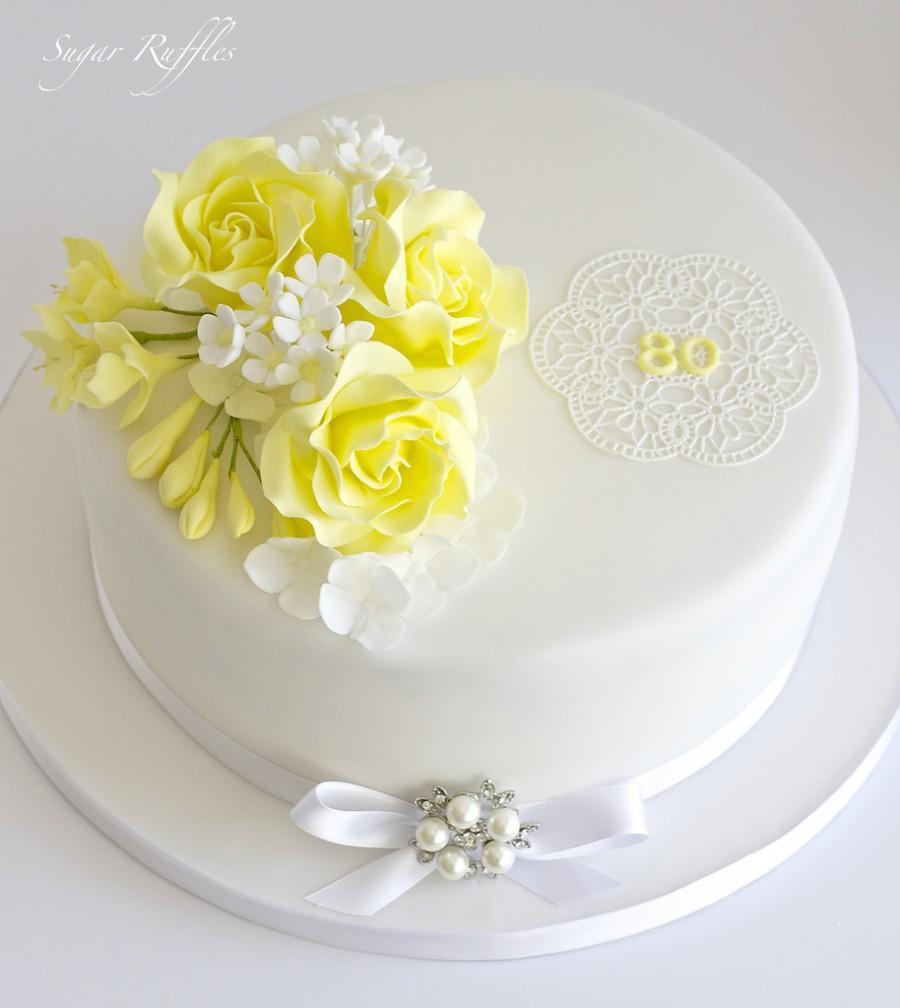 Food Favor 80th Birthday Cake 2484407 Weddbook