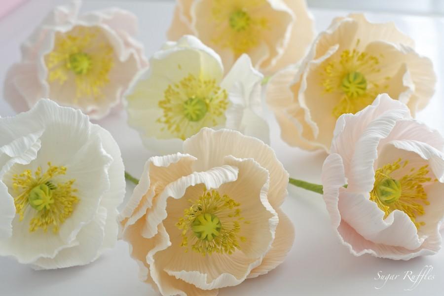 Свадьба - Sugar Flowers- Icelandic Poppies