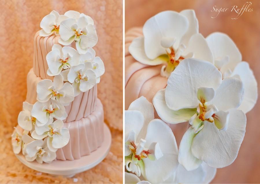 Свадьба - Orchid Cascade Wedding Cake