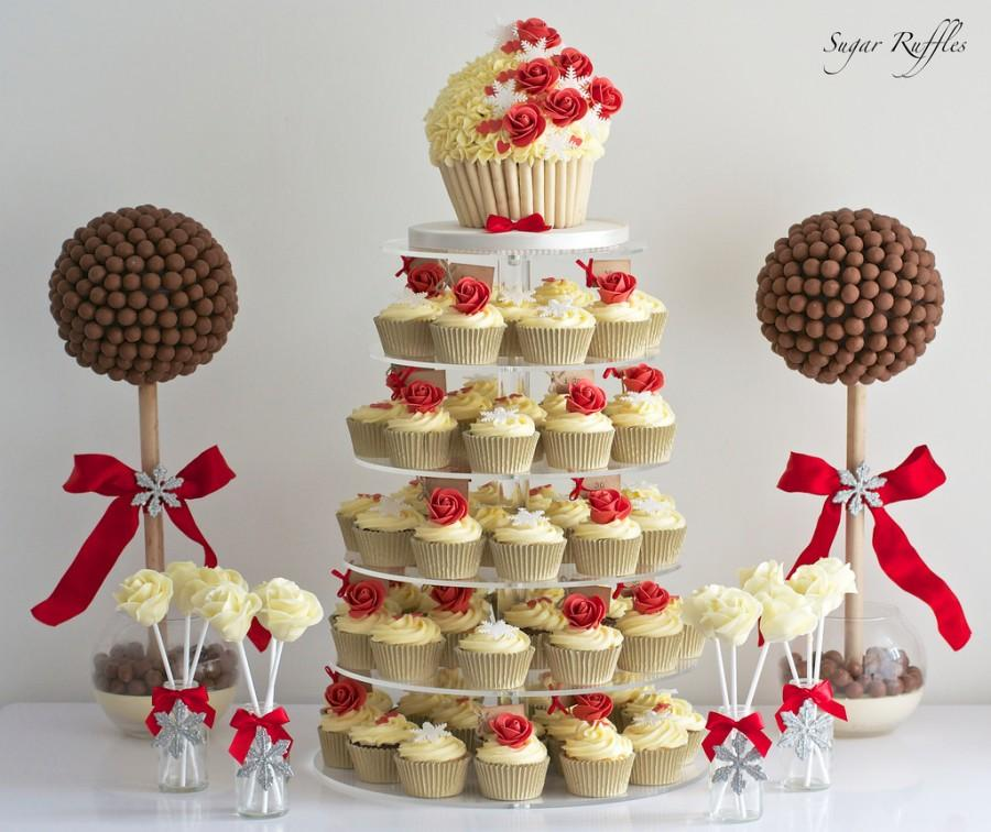 Red Dessert Table For Weddings: Red Rose Dessert Table #2484427