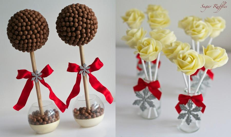 Свадьба - Malteser Trees And Cake Pops