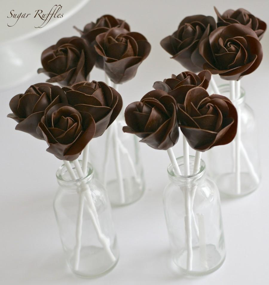 Food & Favor - Dark Chocolate Rose Cake Pops #2484430 - Weddbook