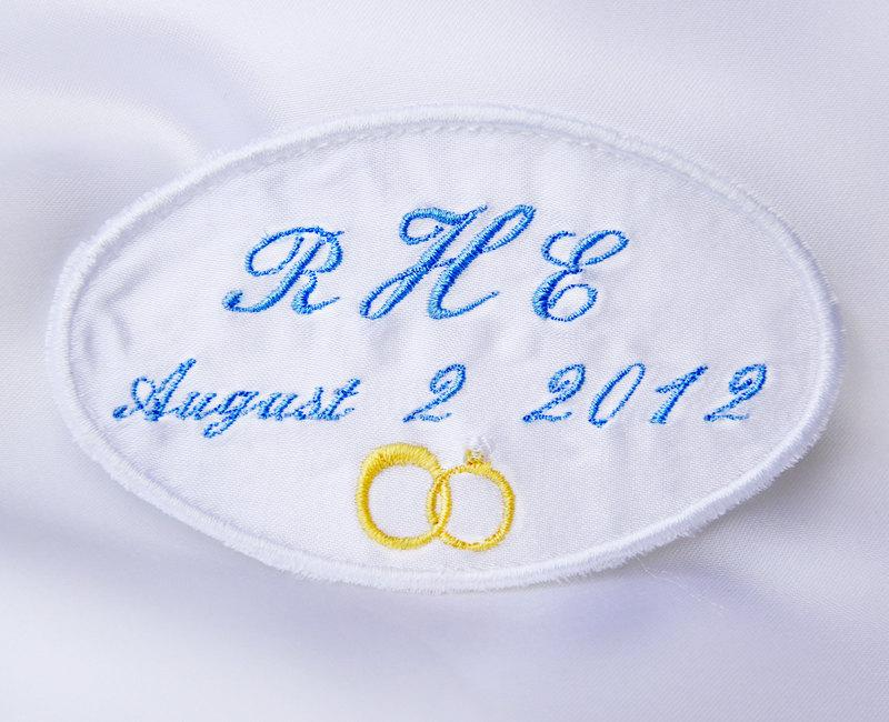 Hochzeit - Custom clothing label, Wedding Dress Label,   Wedding favors,  Embroidered label