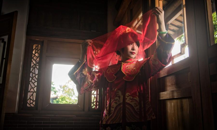 Wedding - [Prewedding] Red Veil
