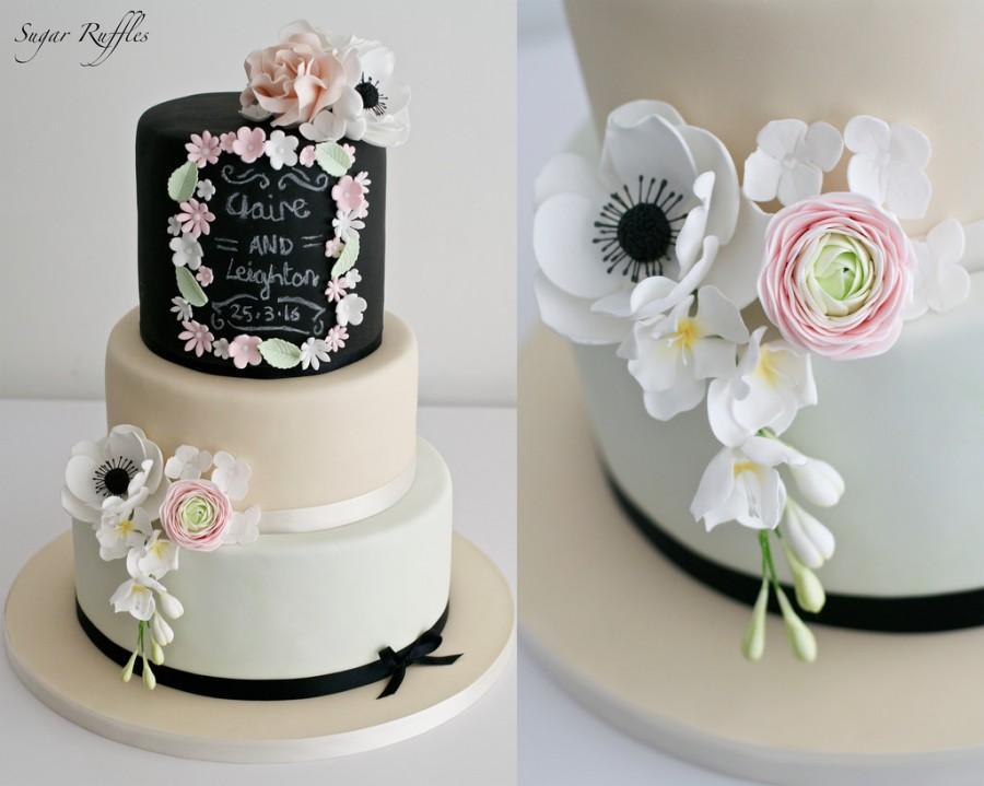 Wedding - Chalkboard Wedding Cake