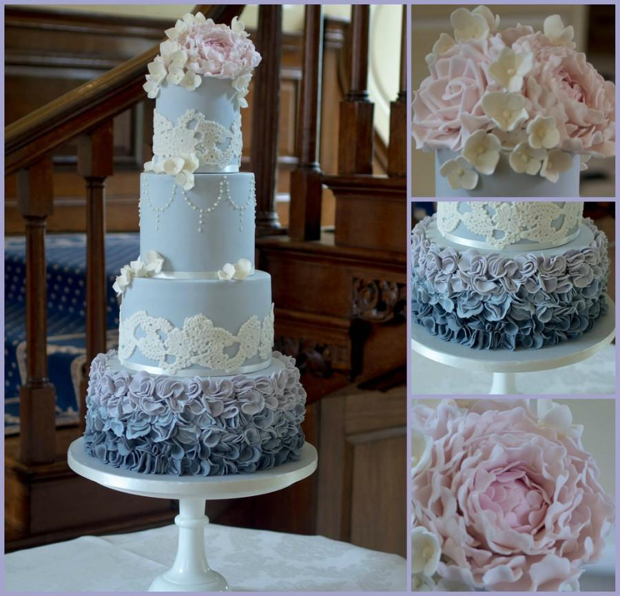 Mariage - Grey Ruffle Cake Collage