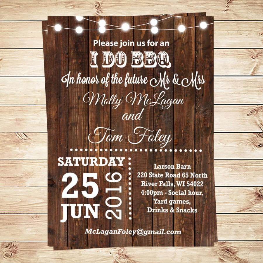 i do bbq engagement party i do bbq party i do bbq invitation i do