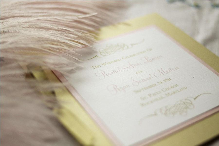 Wedding - Gold Wedding Program / Ceremony Program Booklet / Pink Orchid Program Sample