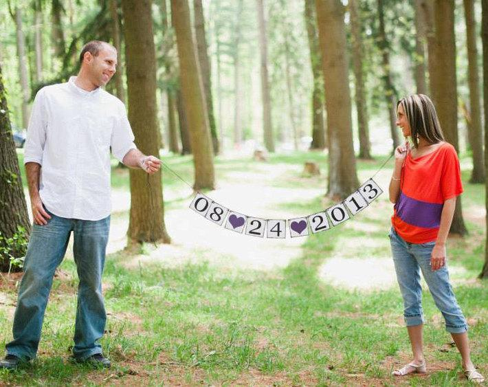 Save The Date Banner Photo Prop Sign Save The Date Sign Bridal