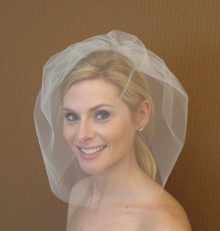 Mariage - Tulle Full Face Birdcage Veil in Light Ivory, Diamond White, White, Blush, Champagne, Black - READY TO SHIP in 3-5 Days