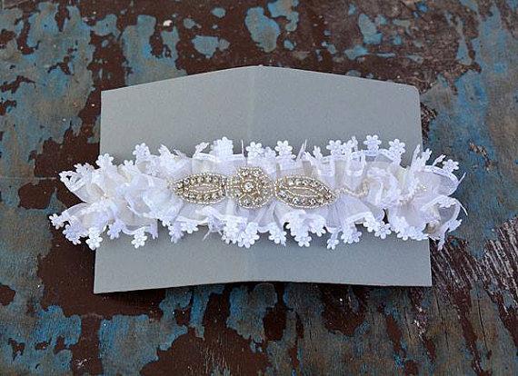 Wedding - Wedding garter, Wedding Leg Garter ,Bridal Garter,Of White Lace Garter, Bridal Accessory,Wedding Accessory