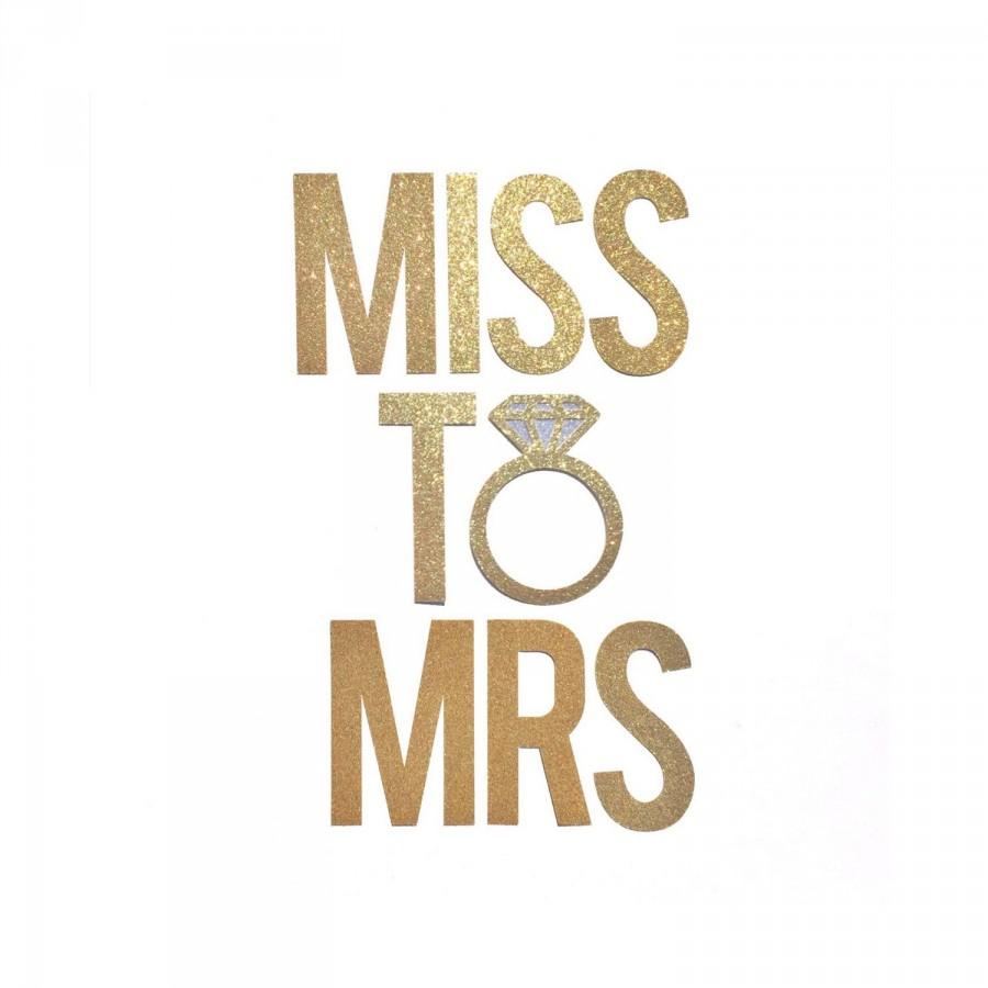 Miss To Mrs Banner Bridal Shower Decor Bachelorette Party Decorations Engagement