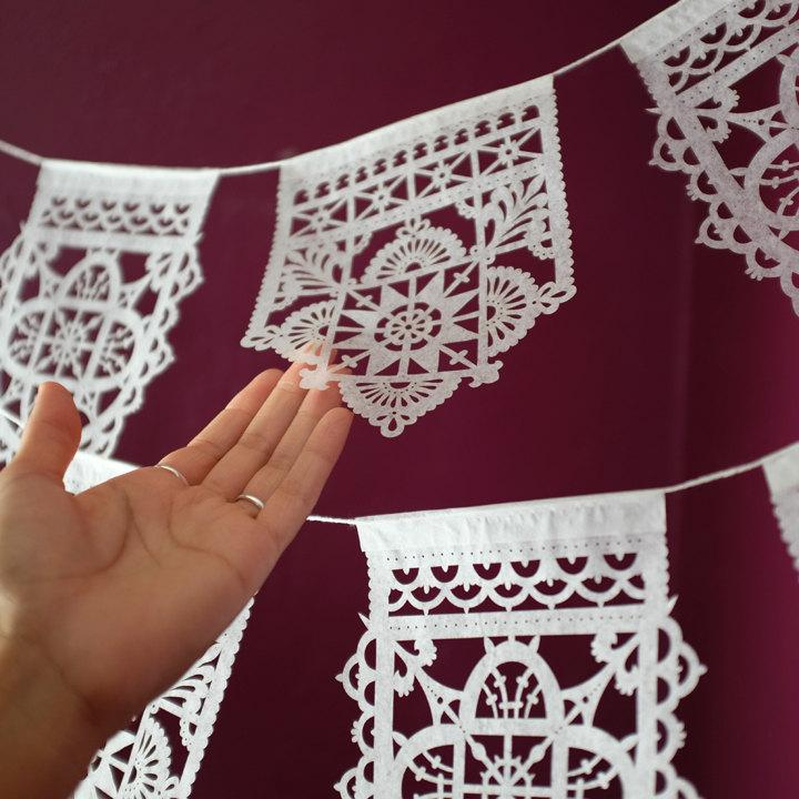 Свадьба - TALAVERA Mexican Papel Picado banners - Ready Made