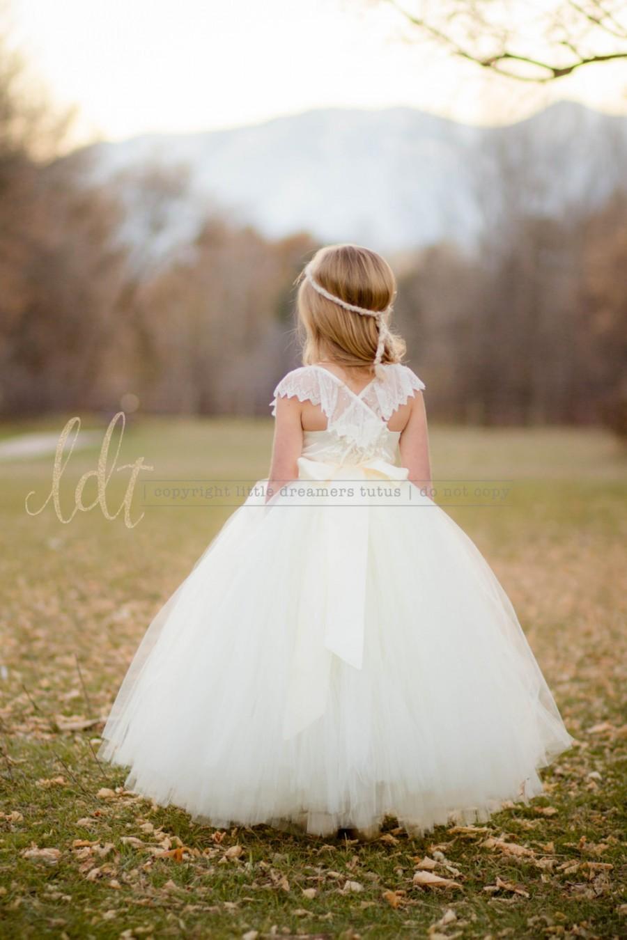 زفاف - NEW! The Everly Dress in Ivory - Flower Girl Tutu Dress