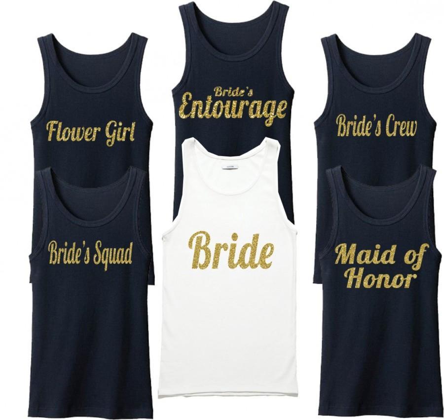 82204654b0e Bridal Party Shirts. Bridesmaid Shirts. Wedding Shirts. Bridal Tank  Top.Bride Gift