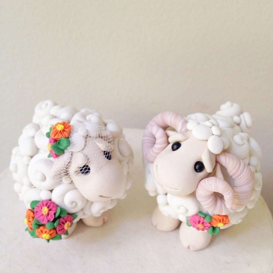 Свадьба - I Love Ewe Custom Keepsake Wedding Cake Topper handmade