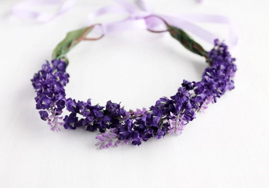 purple floral crown bridal head wreath spring hair crown flower