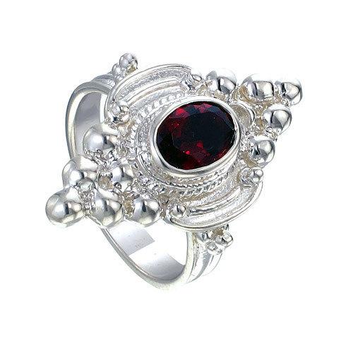 زفاف - Red Garnet Gemstone ring, Big Wide 925 Sterling Silver Women Ring Crafted with Oval Shape Red Garnet Gemstone Ring, Women Silver Ring.