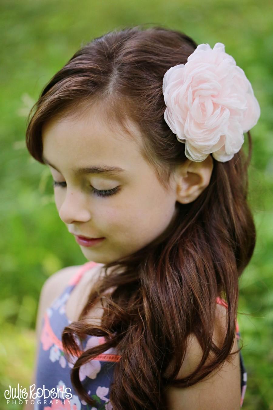 Blush Pink Peony Wedding Hair Flower Blush Wedding Hair Flower
