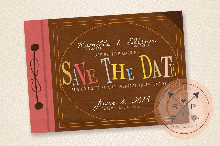 زفاف - Adventure Book - Printable Adventure Inspired Save the Date Design