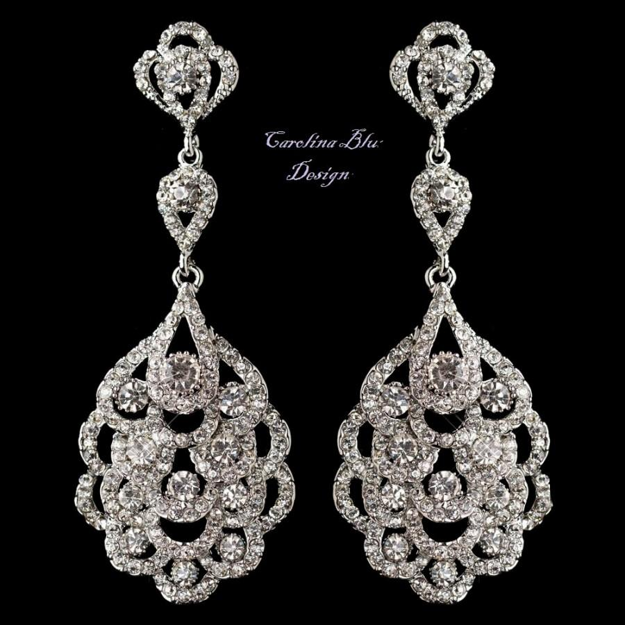 art deco chandelier earrings bridal earrings antique