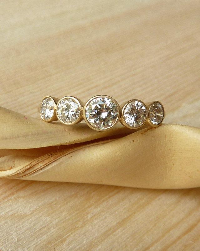 Свадьба - 5 Stone Bezel Set Diamond Band