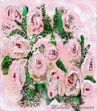 """Mariage - Romantic, Fine Art, Digital Art Print, """"Pink Wedding Bouquet"""" by Michelle Trousseau, Instant Download Print"""