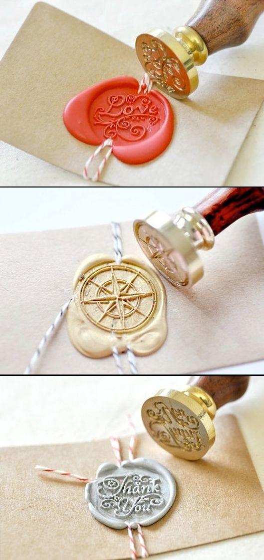 زفاف - B20 Wax Seal Stamp Message Words Love