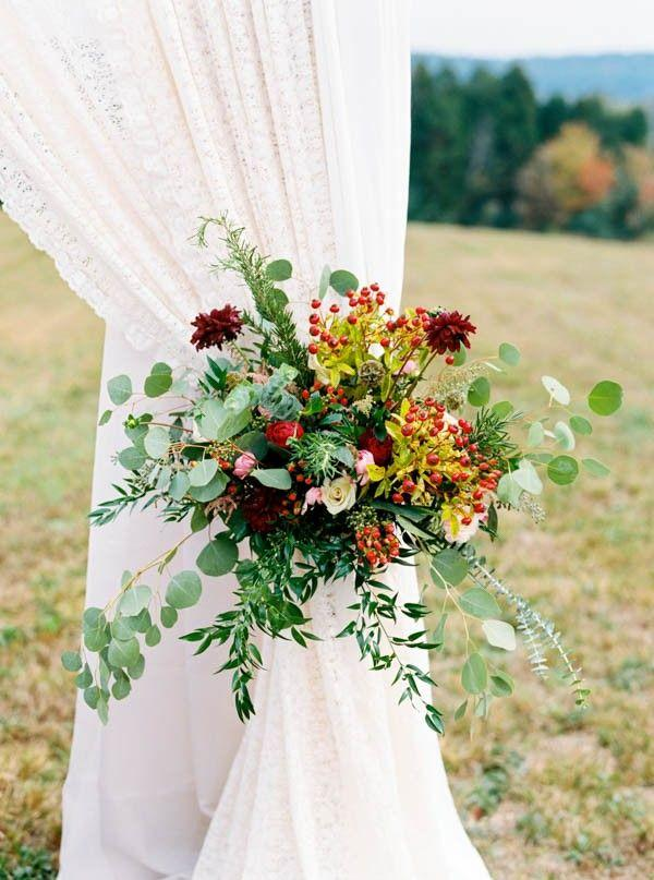 Wedding - Modern Rustic Red And Sage Green Wedding At Castleton Farms