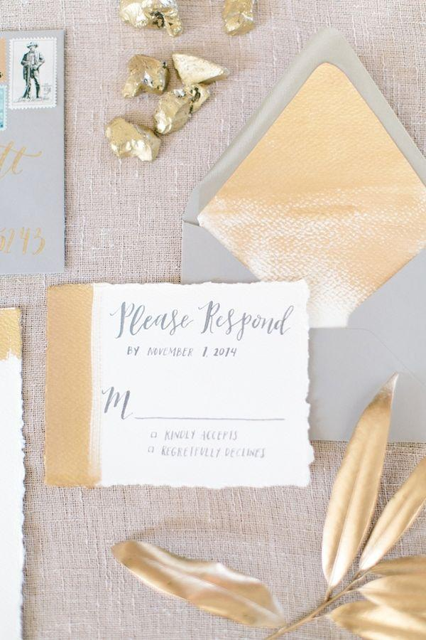 زفاف - Modern Wedding Inspiration With Gray And Gold