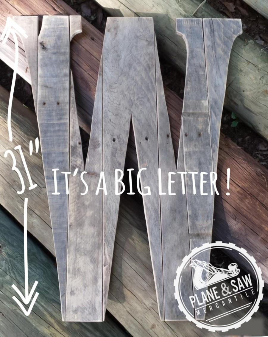 31 Tall Rustic Letter W Guest Book Big Wooden Letter Countrychic