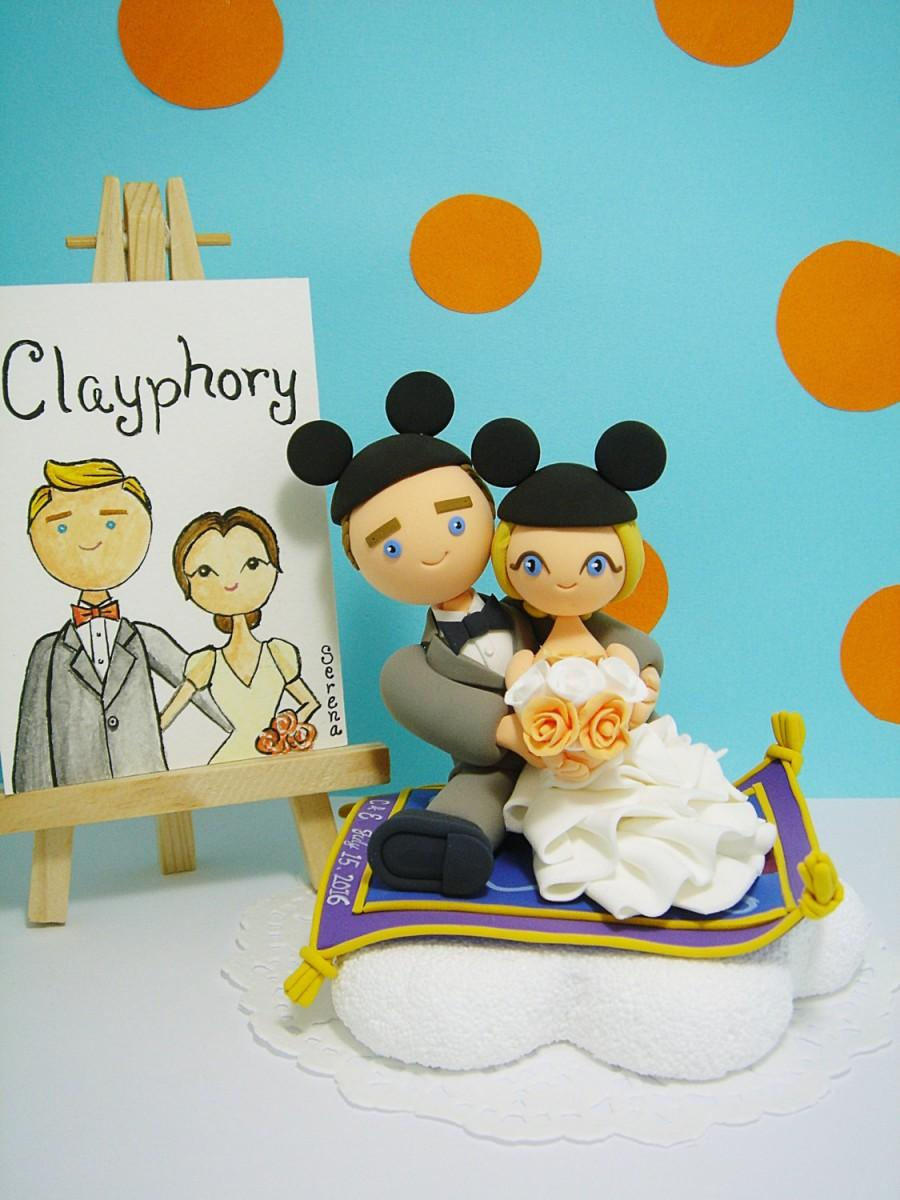 Mariage - Aladin Disney theme Custom wedding cake topper