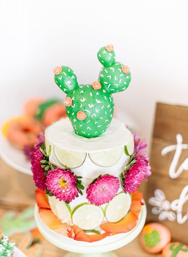 Wedding - Vibrant Coral & Green Fiesta Birthday Party