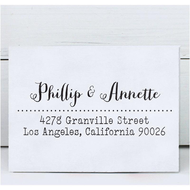 Свадьба - Custom Address Stamp, Calligraphy Stamp, Personalized Wedding Stamp, Eco Mount Rubber Address Stamp - Granville