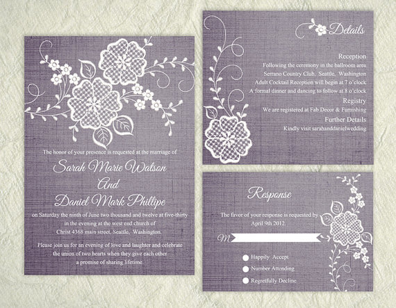 Wedding - Printable Wedding Invitation Suite Printable Invitation Floral Invitation Embroidered Invitation Download Invitation Edited jpeg file